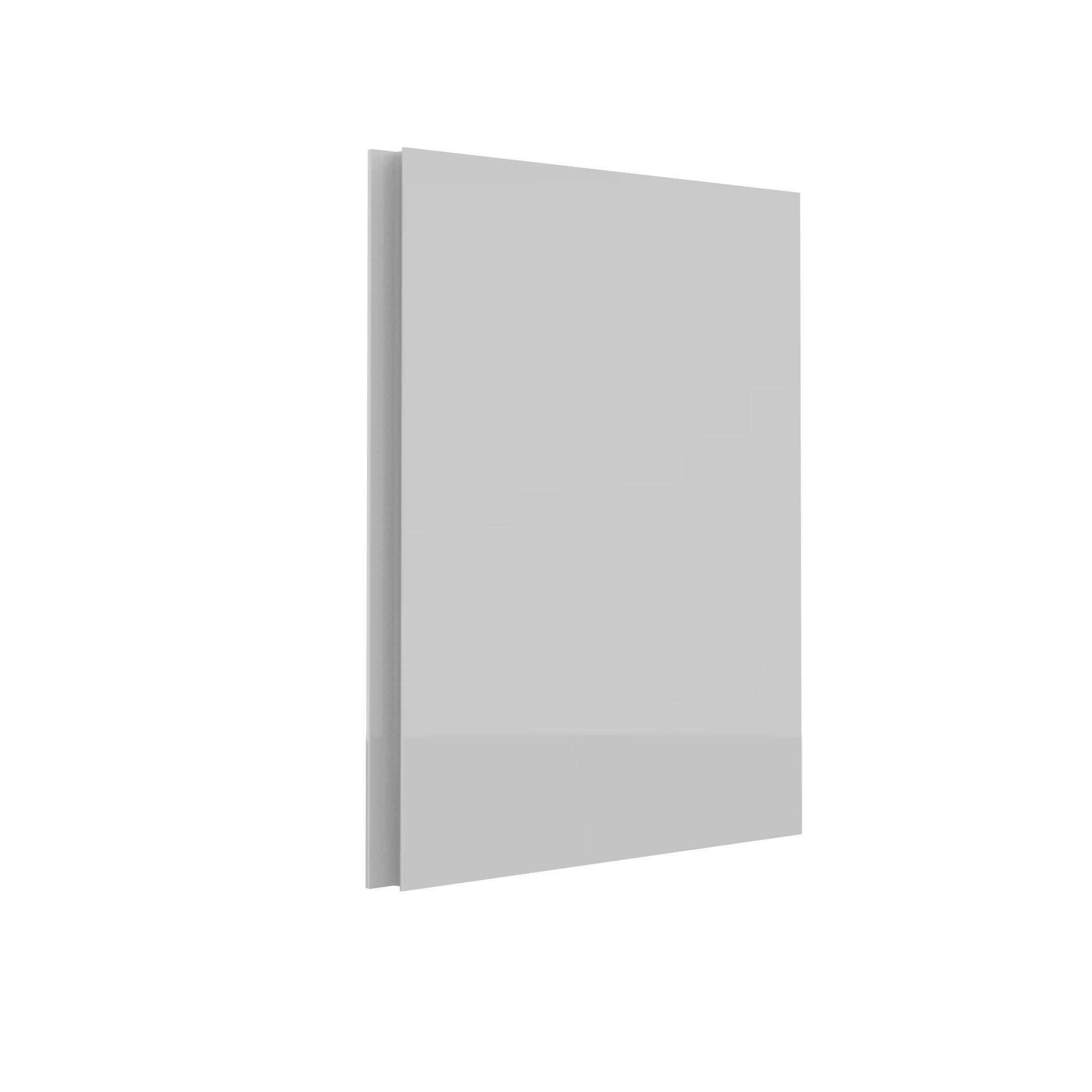 Darwin Modular White & Gloss Bedside Cabinet Door (h)478mm (w)372mm (d)16mm