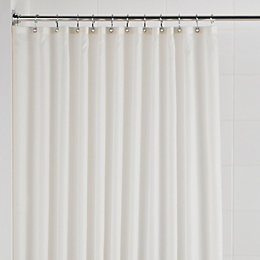Cream Plain Shower Curtain (L)1.8 M