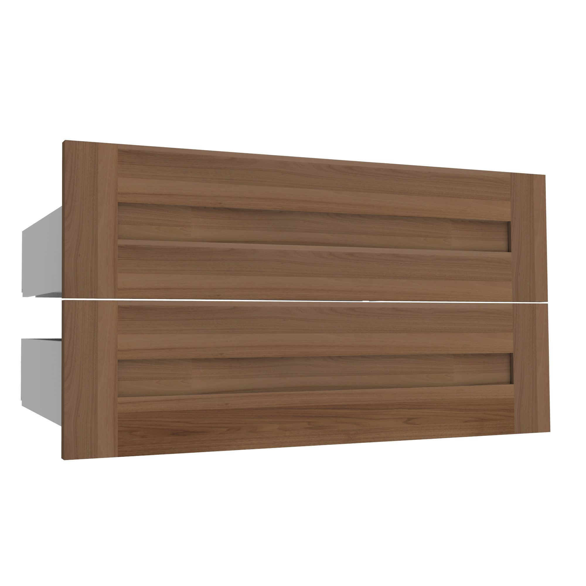 Darwin Modular Walnut Effect Drawer (h)240mm (w)750mm (d)566mm