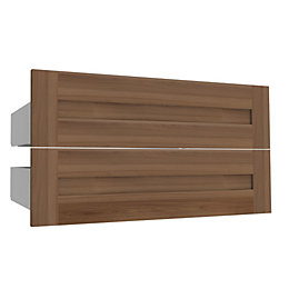 Darwin Modular Walnut Effect Midi Shaker Drawer (H)240mm