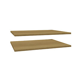 Darwin Modular Oak Effect Shelves (L)750mm (D)18mm, Pack