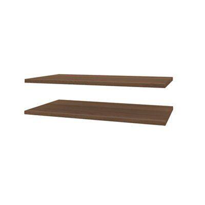 Darwin Modular Walnut Effect Shelves (H)370Mm (W)750Mm (D)