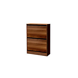 Darwin Modular Walnut Effect Midi Shoe Rack (H)951mm