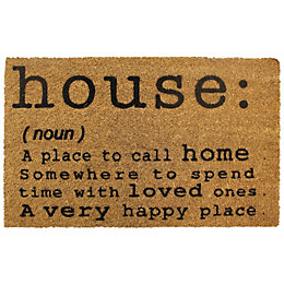 Colours Ela Black & Natural House Quote Coir