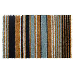 Colours Maren Blue & Natural Stripe Coir Door