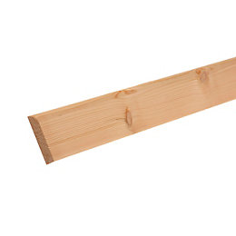 Smooth Bullnose Skirting (T)15mm (W)94mm (L)2400mm, Pack of