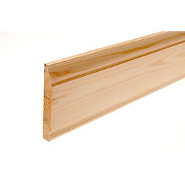 Softwood Mouldings Smooth Skirting (T)15mm (W)94mm (L)2100mm,