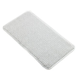 B&Q White Soft Textured Coral Effect PVC Anti-Slip