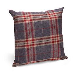 Claudette Tartan Blue & Red Cushion