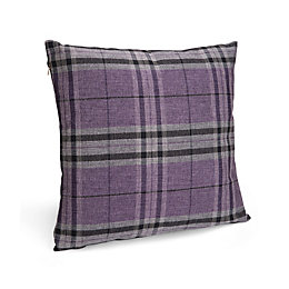 Crisana Tartan Purple Cushion