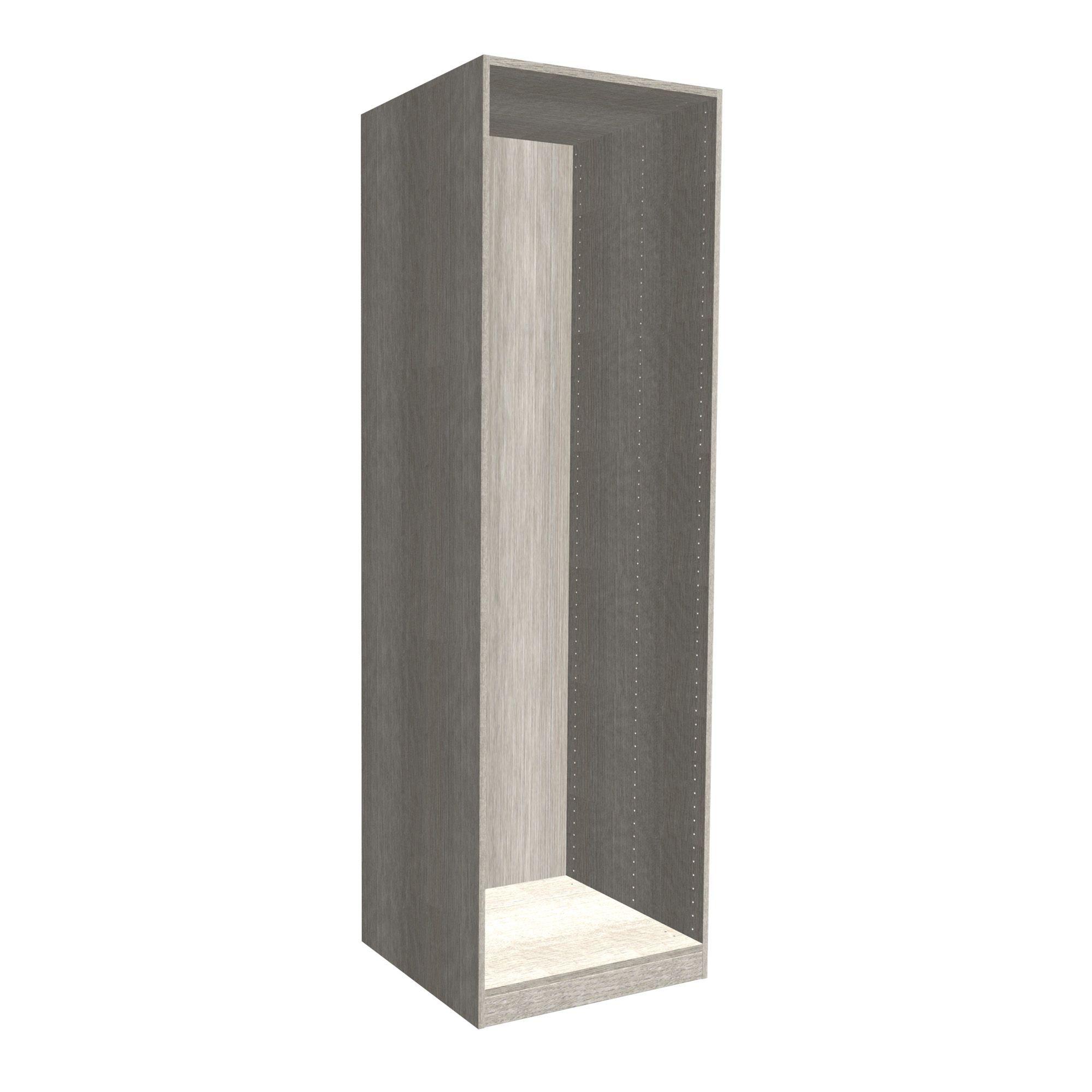 Darwin Modular Matt Grey Oak Effect Wardrobe Cabinet (h)2004mm (w)500mm