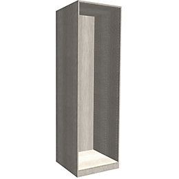 Darwin Modular Matt Grey Oak Effect Tall Wardrobe