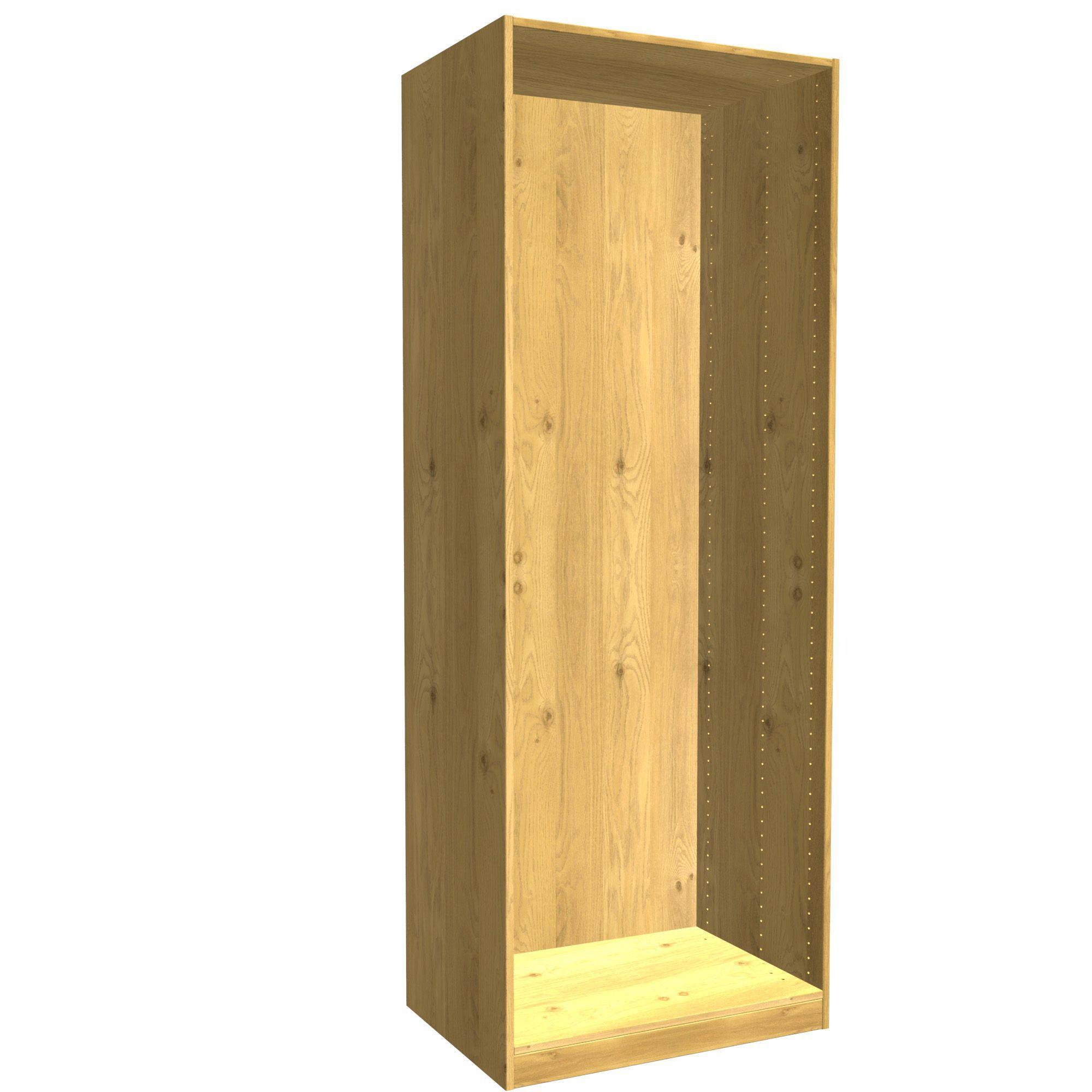 Darwin Modular Oak Effect Tall Wardrobe Cabinet (h)2356mm (w)750mm (d)566mm