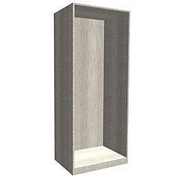 Darwin Modular Grey Oak Effect Midi Tall Wardrobe