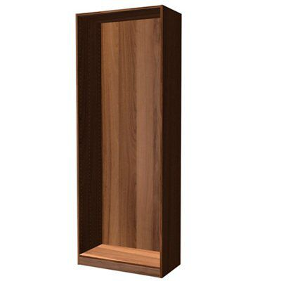 Darwin Modular Walnut Effect Tall Wardrobe Cabinet (h)2356mm (w)750mm (d)374mm