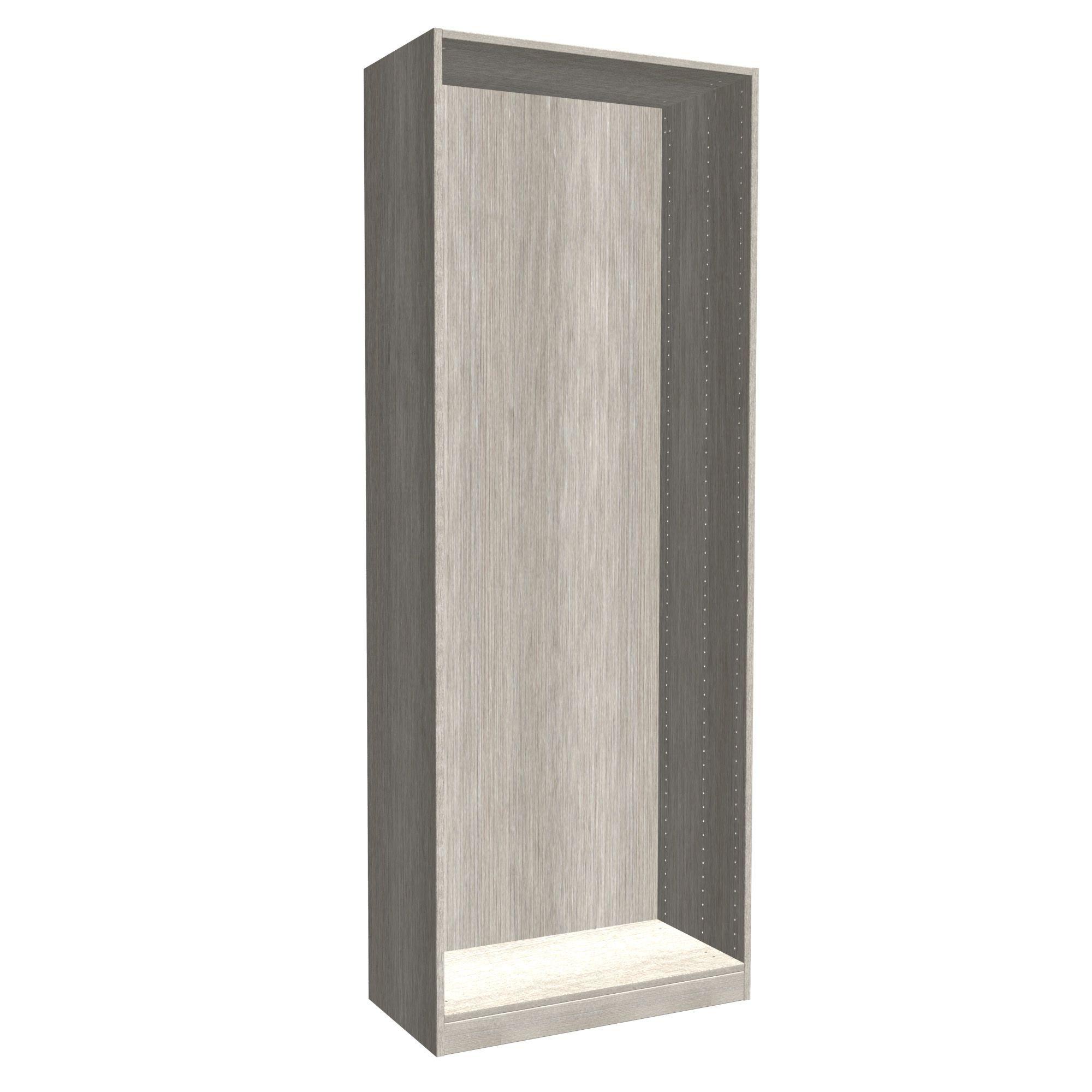 Darwin Modular Grey Oak Effect Tall Wardrobe Cabinet (h)2356mm (w)750mm (d)374mm