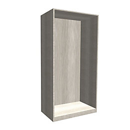 Darwin Modular Matt Grey Oak Effect Wardrobe Cabinet