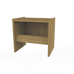 Darwin Oak Effect Stool (H)450mm (W)486mm (D)356mm