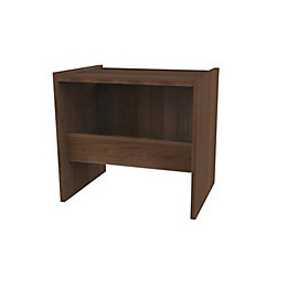 Darwin Modular Walnut Effect Stool (H)450 mm (W)486