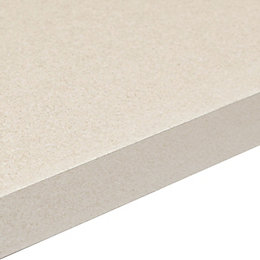 38mm Aura White Gloss Granite Effect Square Edge