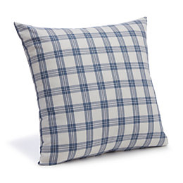 Chenoa Checked Blue & White Cushion