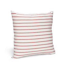 Christiana Striped Red & Cream Cushion