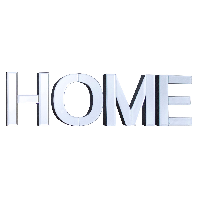 Colours Cori Plain Mirror Frameless Home Mirror (h)150mm (w) 520mm