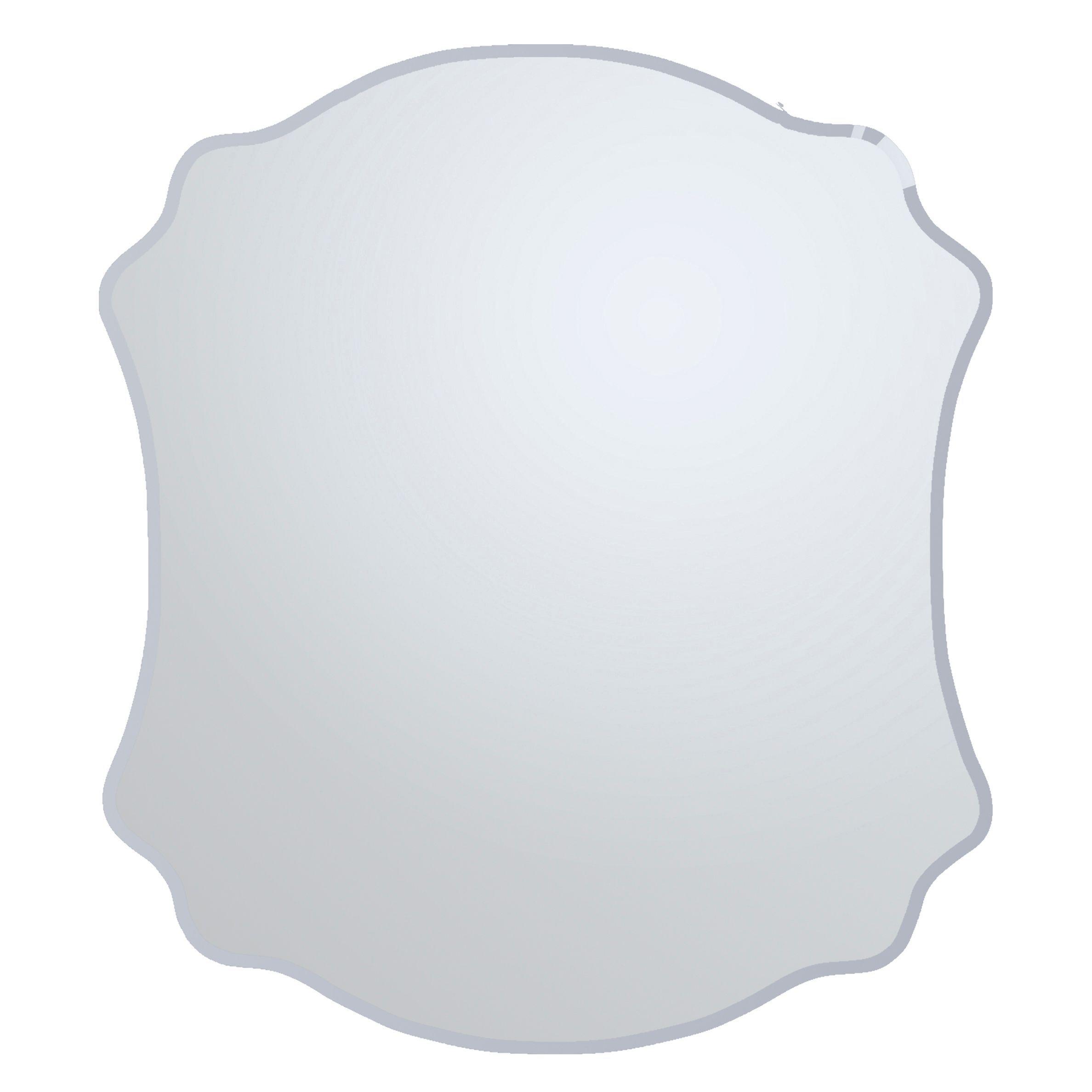 Colours Nerio Plain Mirror Frameless Scalloped Mirror (h)500mm (w) 400mm
