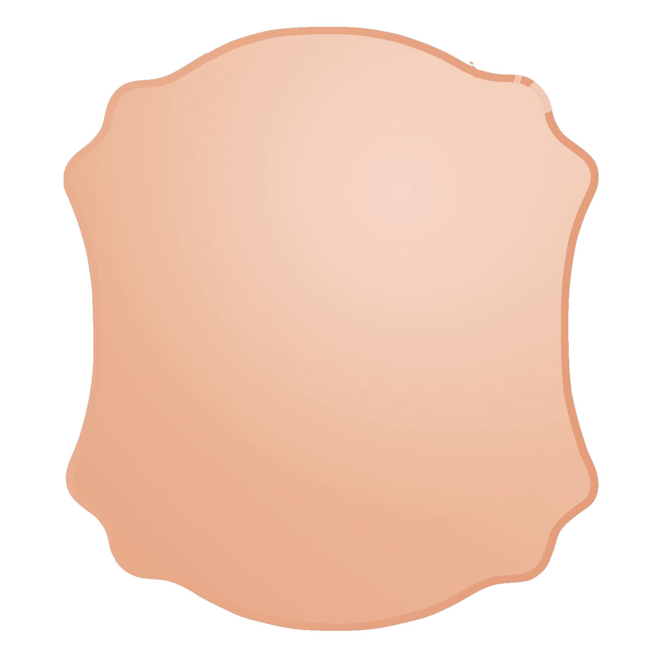 Colours Nerio Copper Frameless Scalloped Mirror (h)500mm (w) 400mm