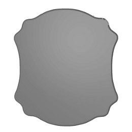 Colours Nerio Grey Unframed Scalloped Mirror (H)500mm (W)