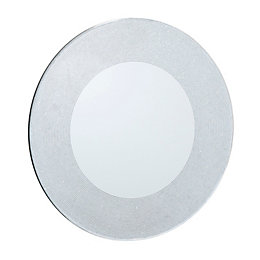 Colours Lucina Glitter Frameless Circular Mirror (H)500mm (W)
