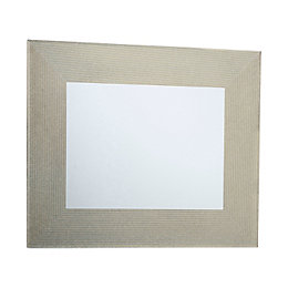 Colours Lucina Gold Glitter Frameless Rectangular Mirror (H)600mm