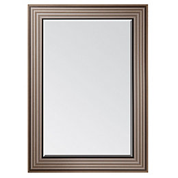 Colours Laverna Foil Wrap Framed Rectangular Mirror (H)1070mm