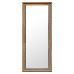 Colours Felton Oak Effect Framed Rectangular Mirror (H)1525mm