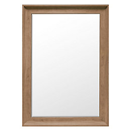 Colours Felton Oak Effect Framed Rectangular Mirror (H)104mm