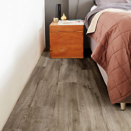 Limed Oak Effect Premium Luxury Vinyl Click Flooring,