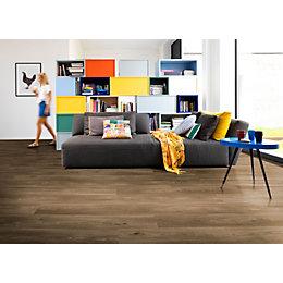 Dark Oak Effect Premium Luxury Vinyl Click Flooring,