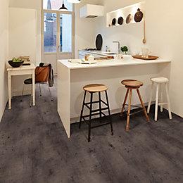 Carbon Effect Premium Luxury Vinyl Click Flooring, 1.5m²