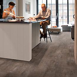 Metallic Grey Effect Premium Luxury Vinyl Click Flooring,