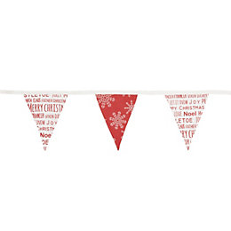 Colours Festive Words Decorative Bunting, (L)3 M