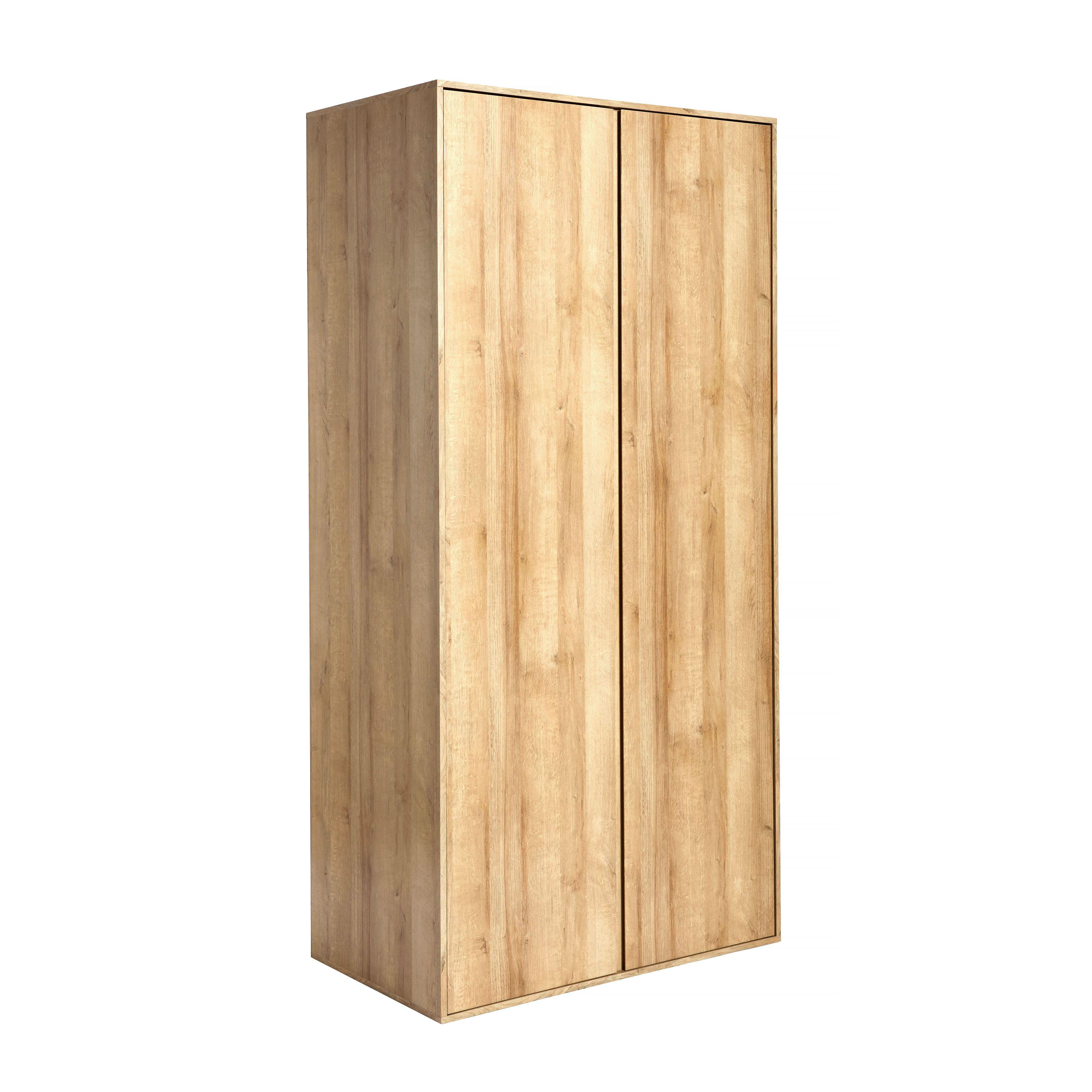 wardrobe template. pattinson oak effect 2 door wardrobe h2000mm w987mm template