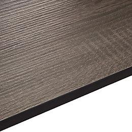 12.5mm Topia Dark Wood Effect Square Edge Kitchen
