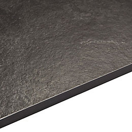 12.5mm Zinc Argente Black Square Edge Kitchen Worktop
