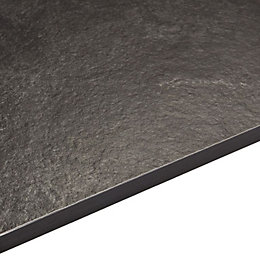 12.5mm Zinc Argente Black Square Edge Kitchen Breakfast