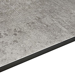12.5mm Woodstone Grey Square Edge Kitchen Worktop (L)3020mm