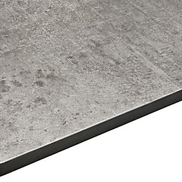 12.5mm Woodstone Grey Square Edge Kitchen Breakfast Bar
