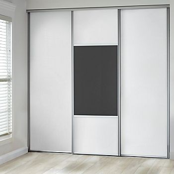White & Anthracite Glass Mix & Match Sliding Wardrobe Door