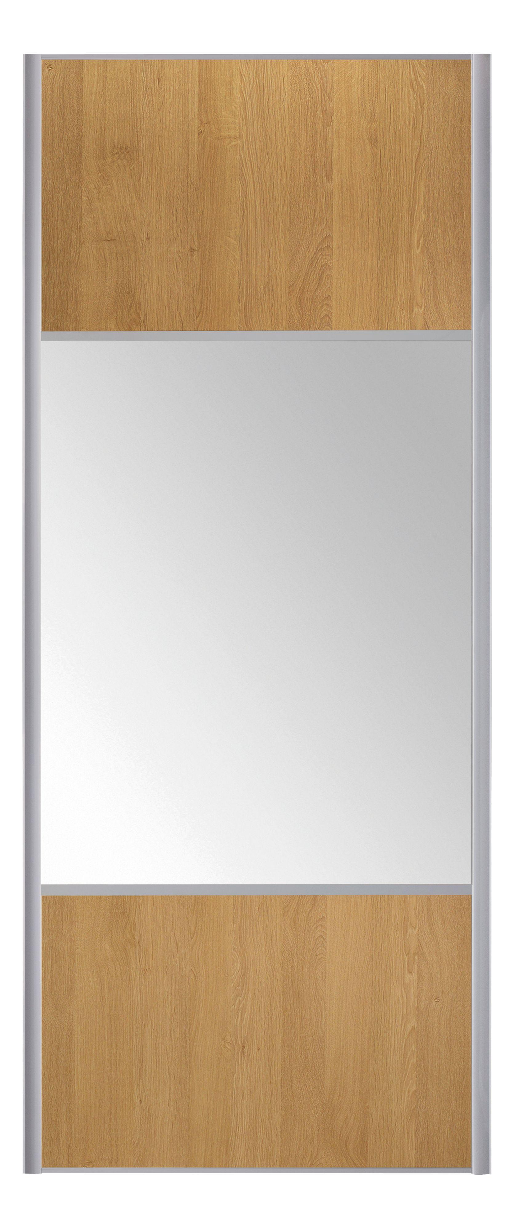 3 Panel Mirror Mix Match Sliding Wardrobe Door H 2200 Mm W 922 Mm D