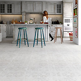 Leggiero Beige Tile Effect Laminate Flooring 1.86 m²