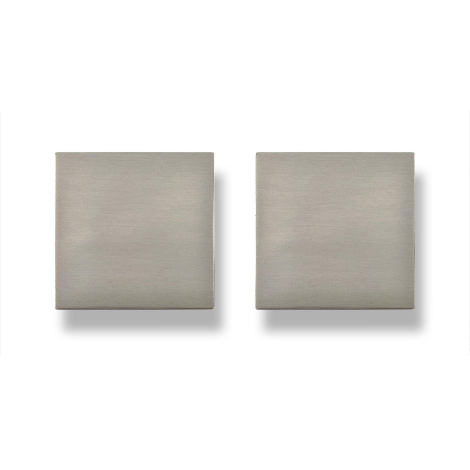 Darwin Stainless Steel Effect Square Bedroom Handle Cabinet Door Knob